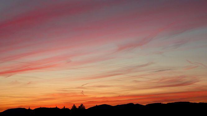 Sonnenuntergang von Strengelbach (Wissberg)