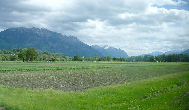 Berglandschaft N�he Buchs (SG)