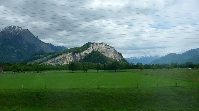 Berggebiet bei n�rdlich Sargans