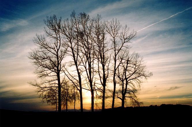 Sonnenuntergang in Berom�nster