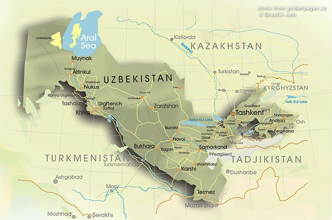 [ map of Uzbekistan ]