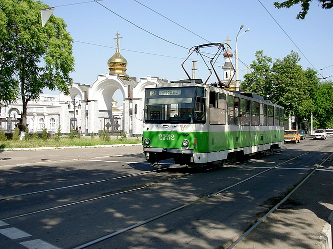 Street Train in Tashkent