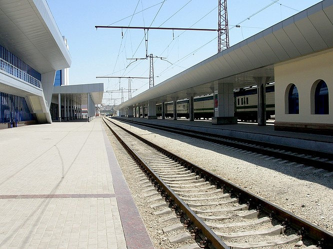 Trainstation in Taskent