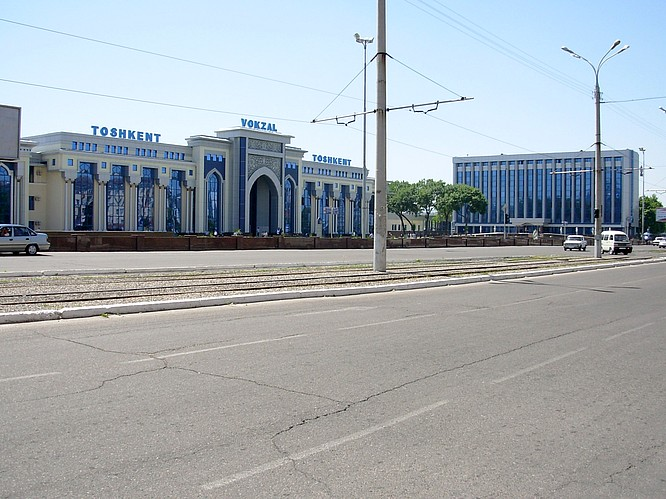 Trainstation in Tashkent