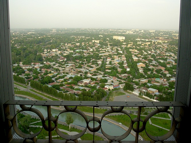 View from TV Tower Tashkent down in City
