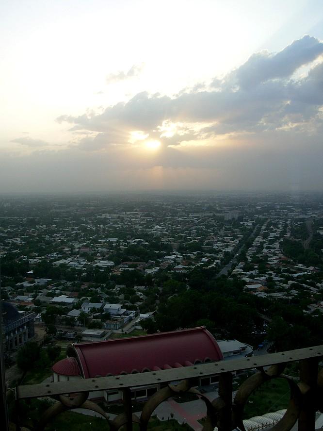 View from TV Tower Tashkent down in City