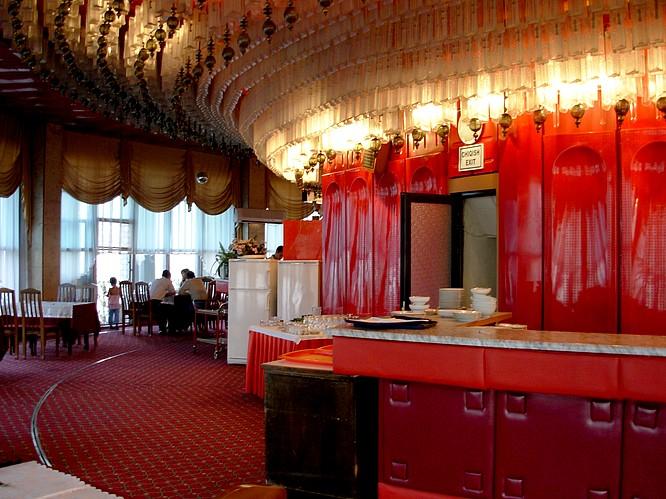 Inside TV Tower of Tashkent, Restaurant