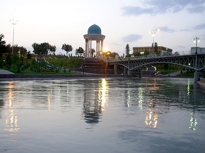 Park in Tashkent, build for current President