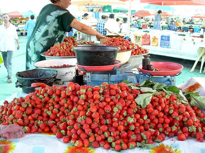 A famous Market/Bazar in Tashkent