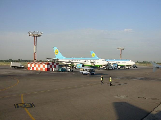 Inside Airport of Tashkent, Uzbekistan Airways