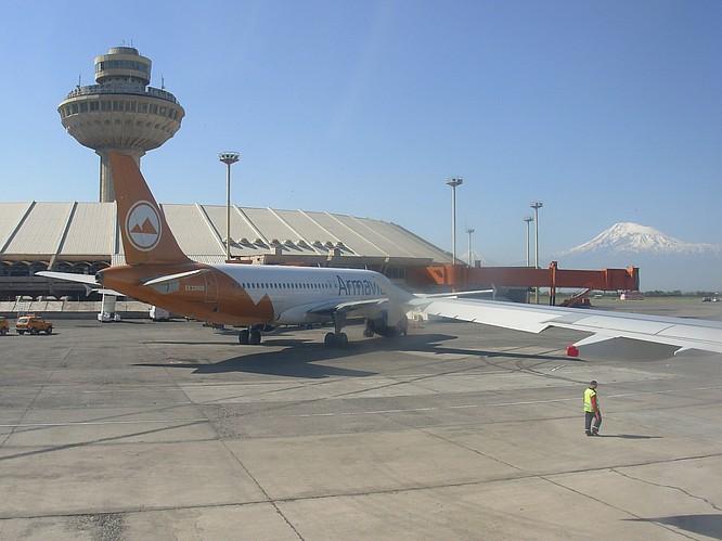 Airport of Erewan in Armenia
