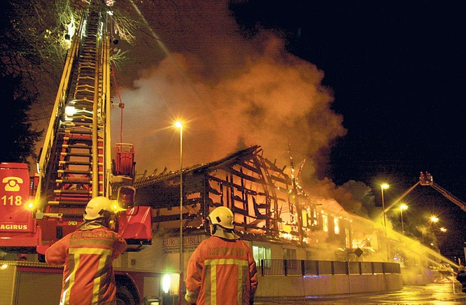Fire at studio deepsonic in Aarburg 04.12.2007