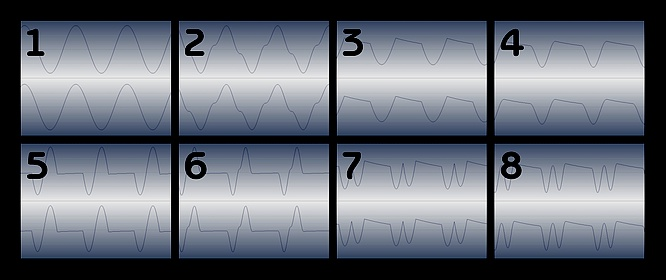 8 Waveforms of FM in Yamaha YS200 YS-200 by deep!sonic 02.2009